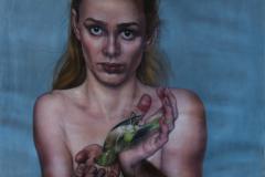 """Joanna Kaucz """"Autoportret zmartwym ptakiem"""""""