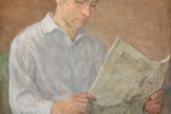 """Olgierd Bierwiaczonek """"Młody Mazuś czytający gazetę"""""""
