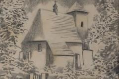 """Romuald Korus """"Stary kościół św.Wojciecha wMikołowie"""""""